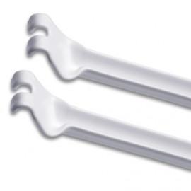 2 soportes diagonal uña para entrepaños de 40cm