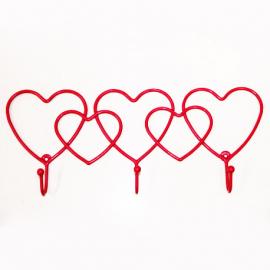 Perchero corazones 3 puestos