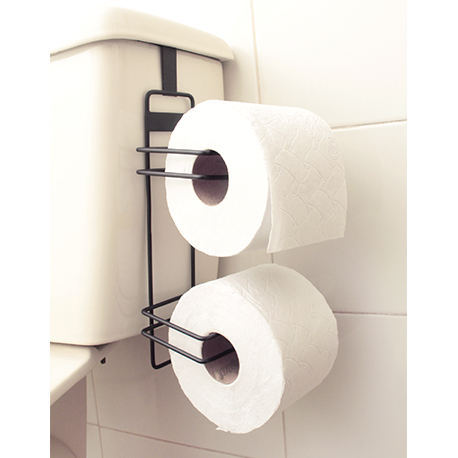 Soporte doble papel higiénico platinum