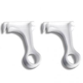 2 soportes tubo