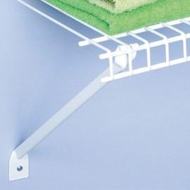 2 soportes diagonales uña para entrepaño de 30 cm