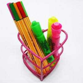 Porta lápices corazón
