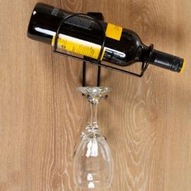 Soporte vino y copas pared