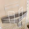 Organizador de ganchos de pared y piso