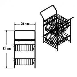 Organizador canasta y toallero